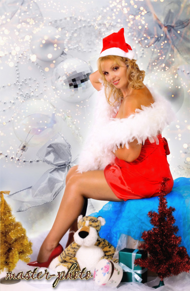 Шаблон снегурочка секси в фотошопе